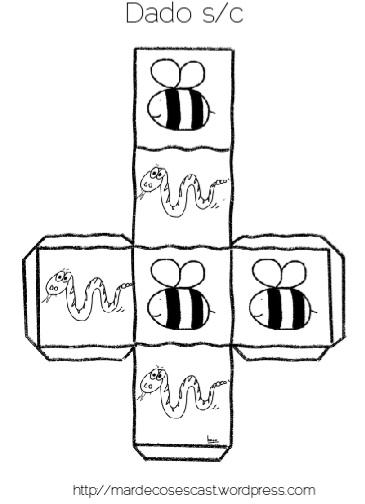 La serpiente representa el fonema /s/ y la abeja el fonema/c/.