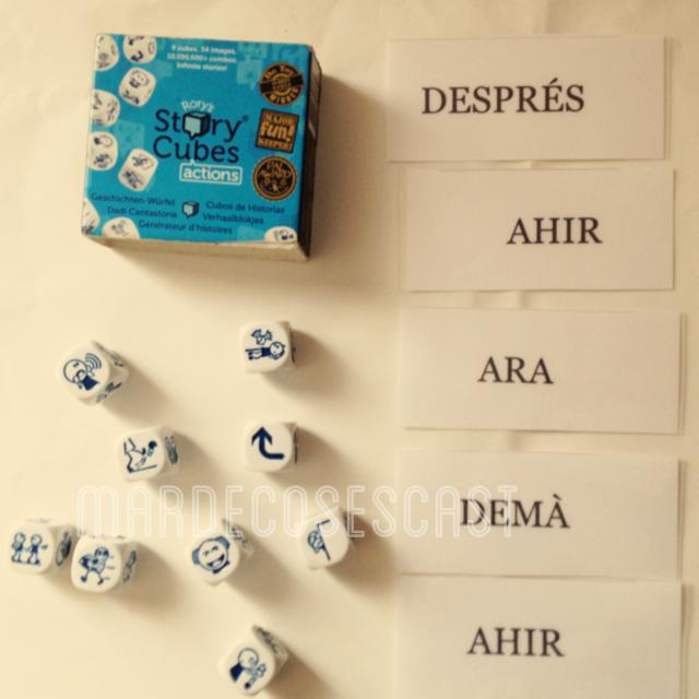 Tarjetas de Story Cubes Actions