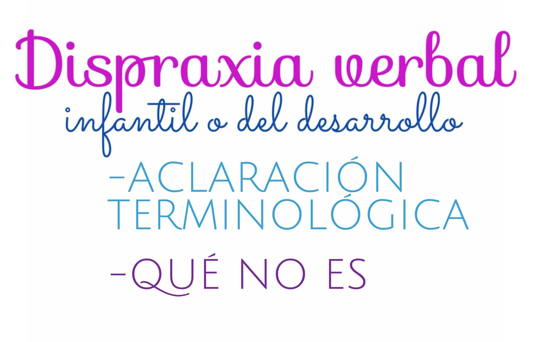 Dispraxia verbal