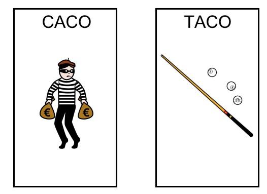 ¿Taco? ¿caco? Oposciones fonológicas.