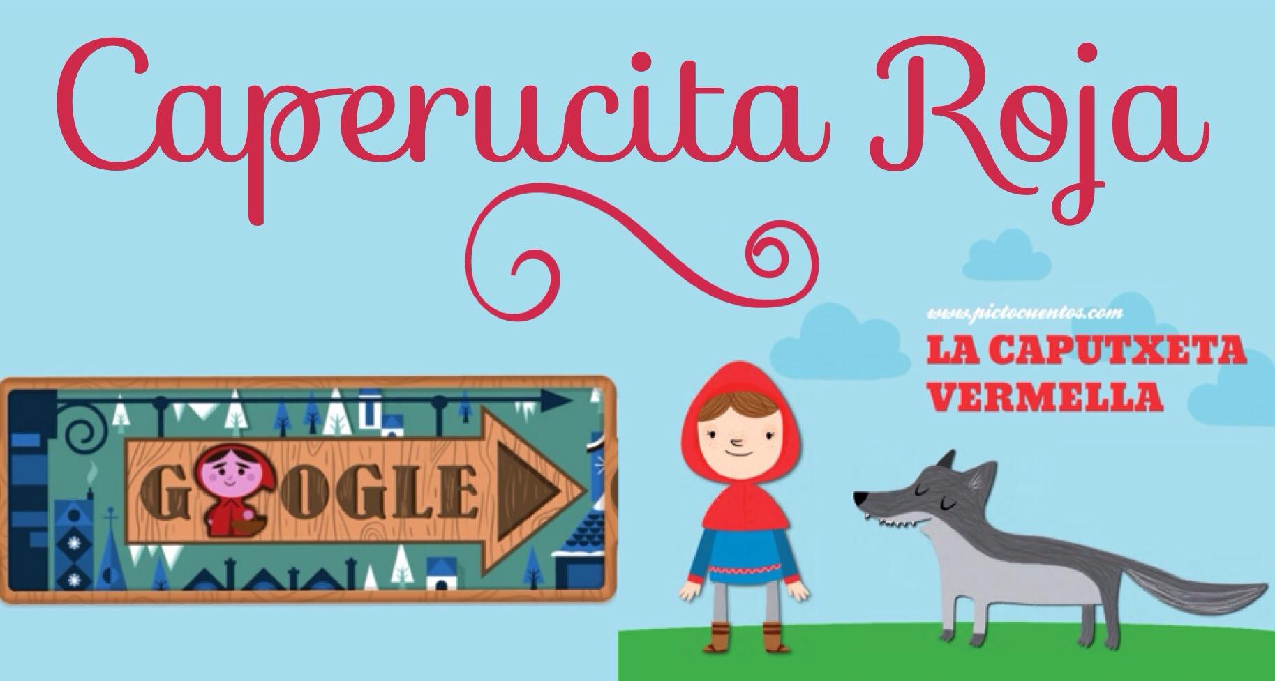 Caperucita Roja con Pictoaplicaciones y un doodle de Google
