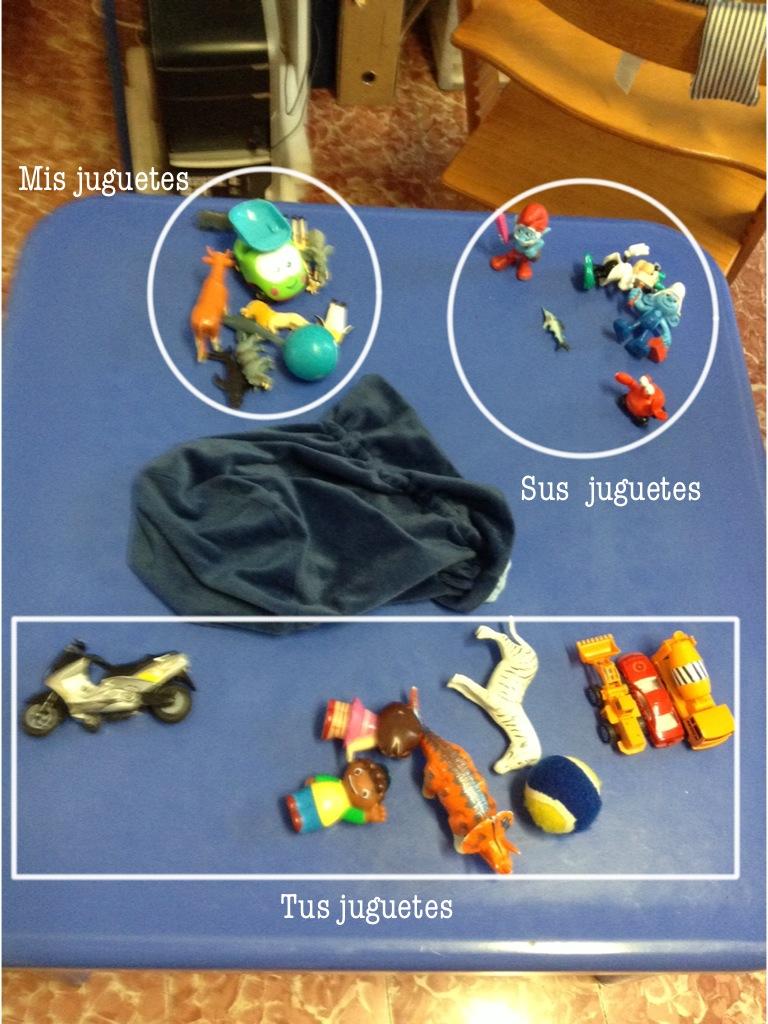 Distribución de los juguetes al final de la sesión